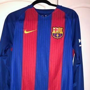 Barcelona home jersey long sleeve